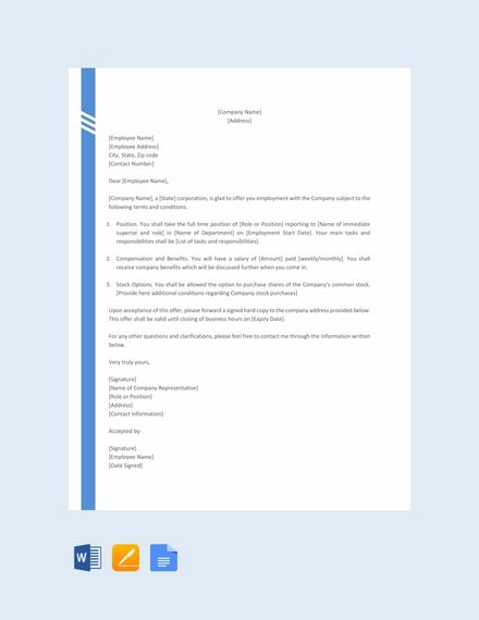 Free Simple Offer Letter Format