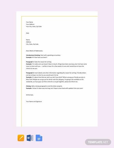 Friendly Letter Format