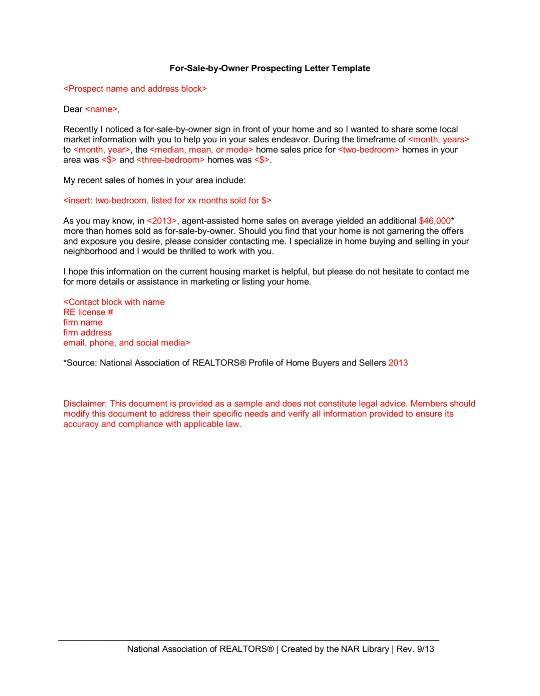 Fsbo Letter Template