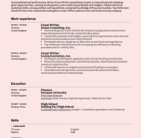 Contract Grant Writer Cover Letter