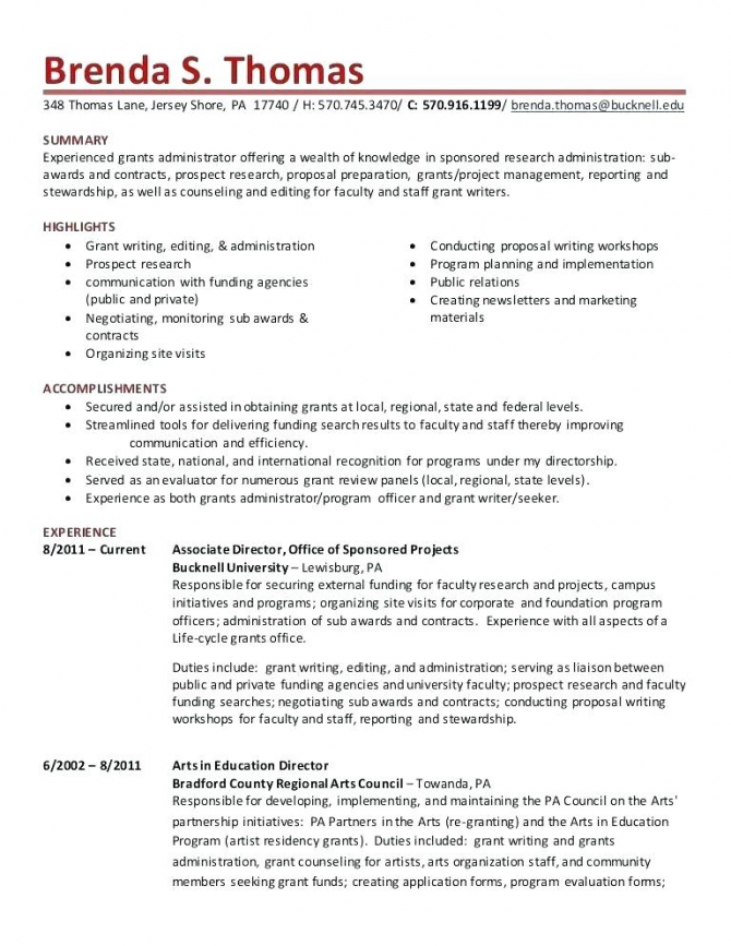 Grants Writer Resume Grant Proposals Proposal Template Writing