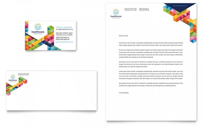Health Fair Business Card   Letterhead Template Design
