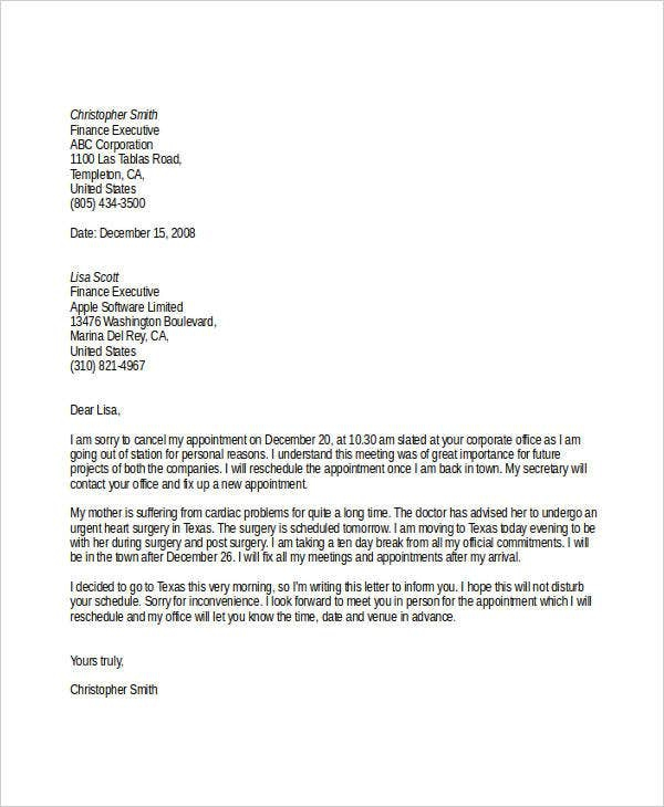 Holiday Cancellation Letter Template  Bisatuh