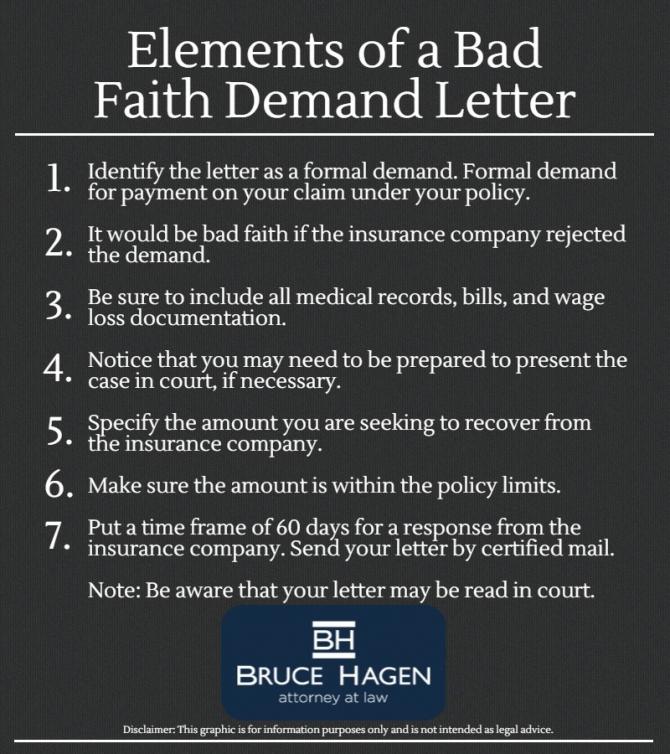 How To Write A Bad Faith Demand Letter