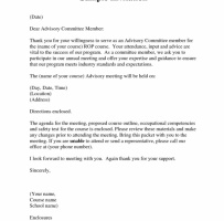 Business Invitation Letter For Meeting