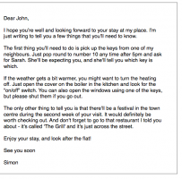 Informal Letter To A Friend