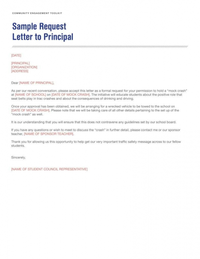 How To Write A Letter To A Principal How To Write Letter By