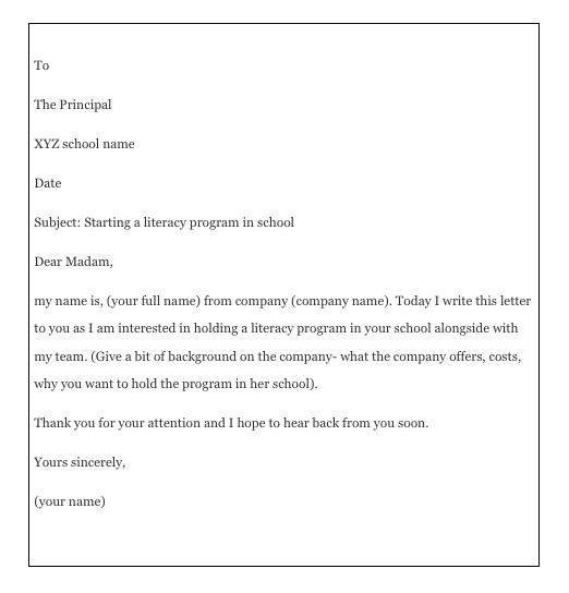 How To Write A Permission Letter To Principal