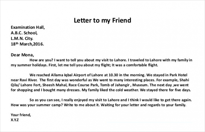 How To Write A Personal Letter With Examples