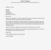 Appeal Letter For Termination Of Employment