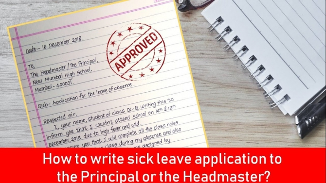 How To Write Sick Leave Application To Principal