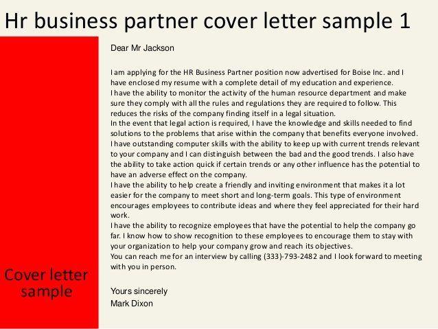 Hr Business Partner Resume In