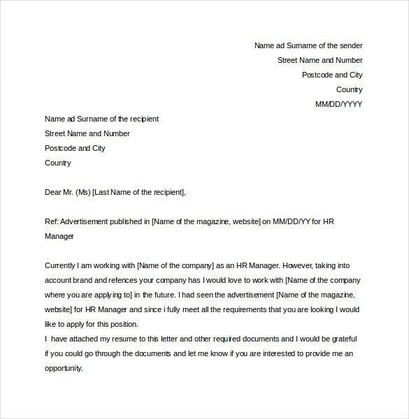 Hr Complaint Letter Templates