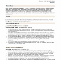 Academic HR Analyst Cover Letter