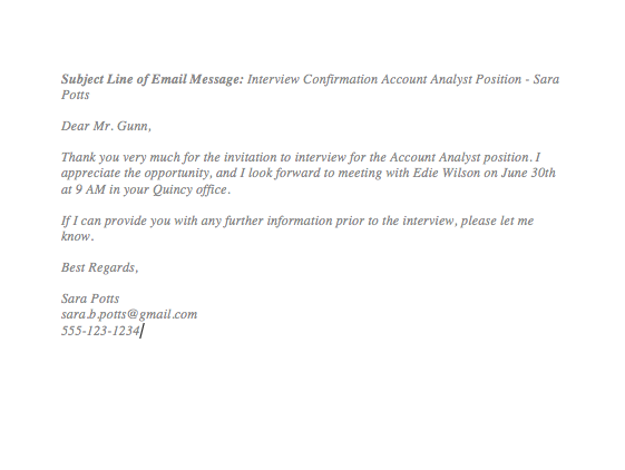 Interview Confirmation Email From Employer  How To Confirm An