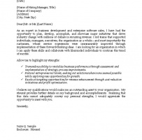 IT Professional Cover Letter