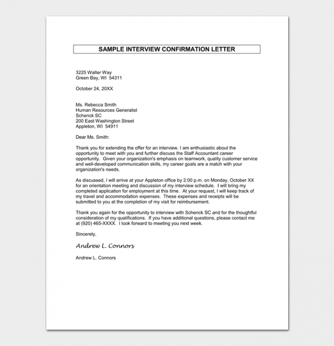 Job Appointment   Offer Letter