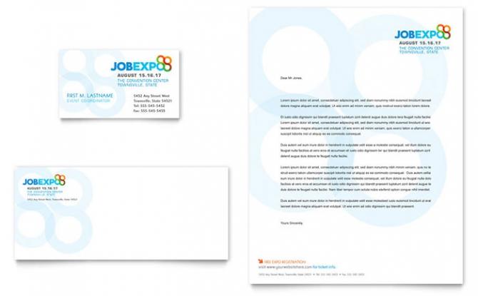 Job Expo   Career Fair Business Card   Letterhead Template Design