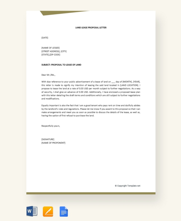 Lease Proposal Examples