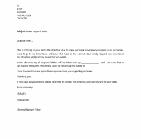Professional Request Letter
