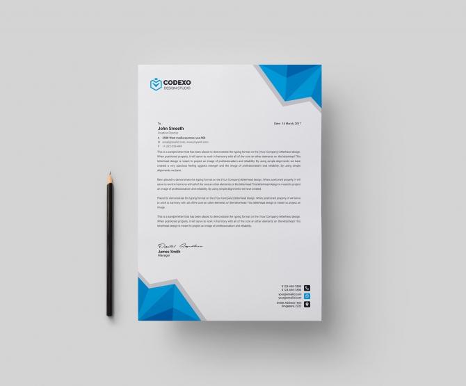 Leo Professional Letterhead Template  Graphic Prime
