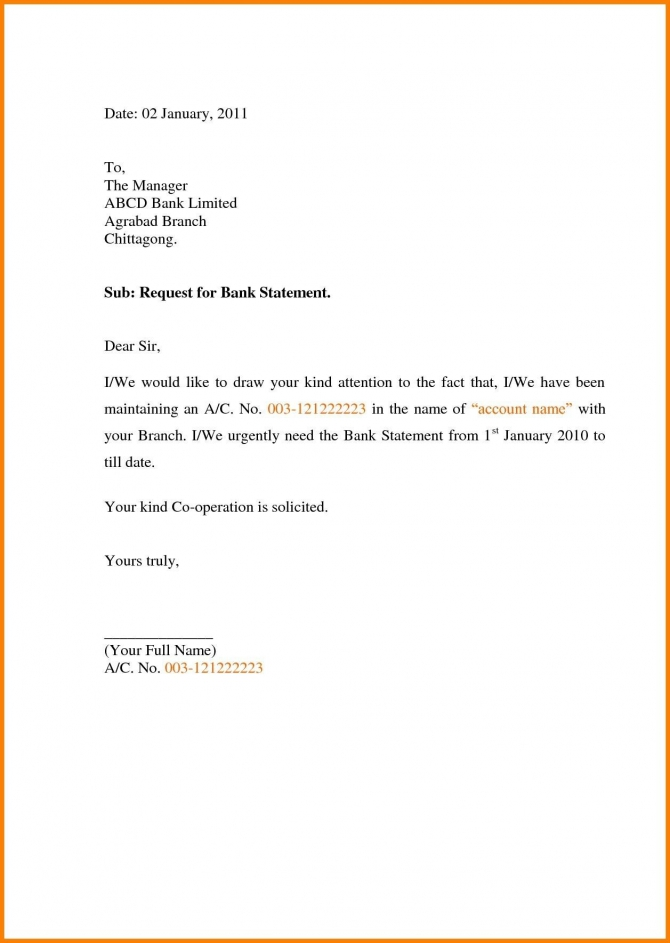 Letter Format To Bank Manager For Bank Statement Fresh Bank