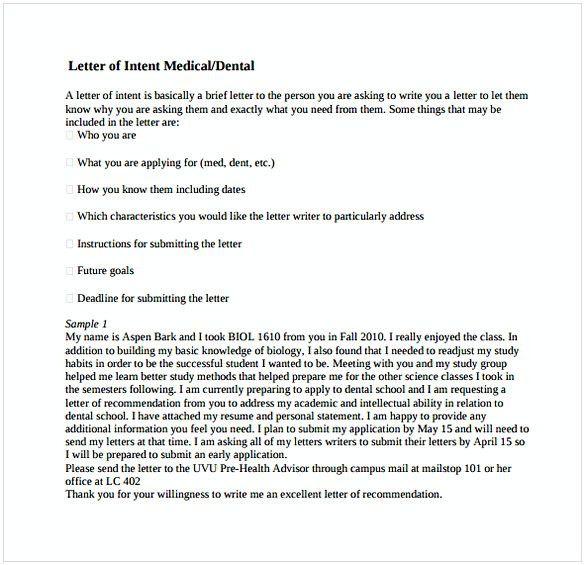 Letter Of Intent For Med School Inspirational Letter Of Intent