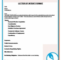 Letter Of Intent To Purchase Goods