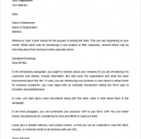Business Introduction Letter To Prospective Clients