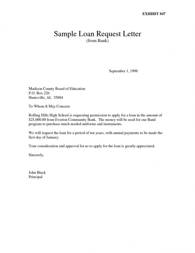 Loan Repayment Letter Template In