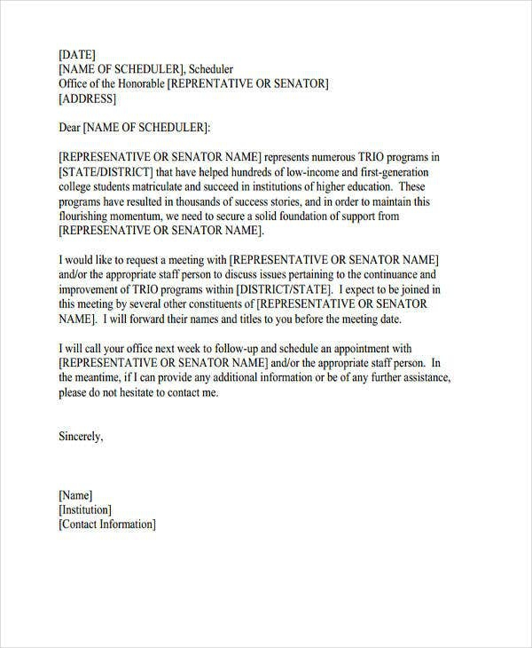 Meeting Appointment Letter Templates