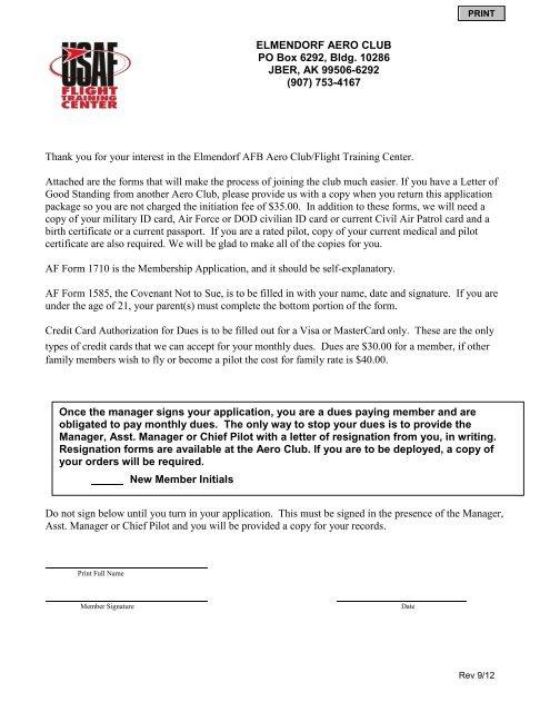 Membership Application Package
