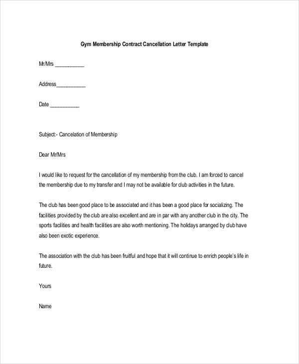 Membership Resignation Letters Template