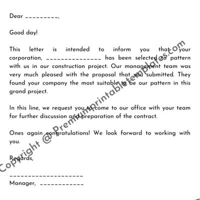 Offer Letter Format For A Corporation