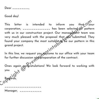 Offer Letter Format For A Corporation