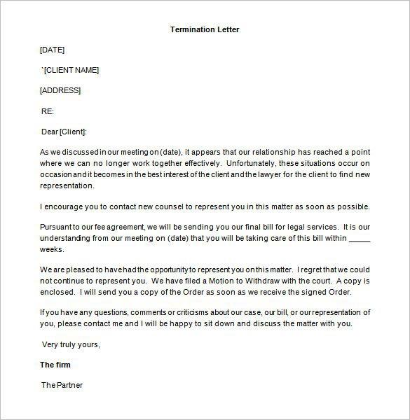 Partnership Termination Letter Templates