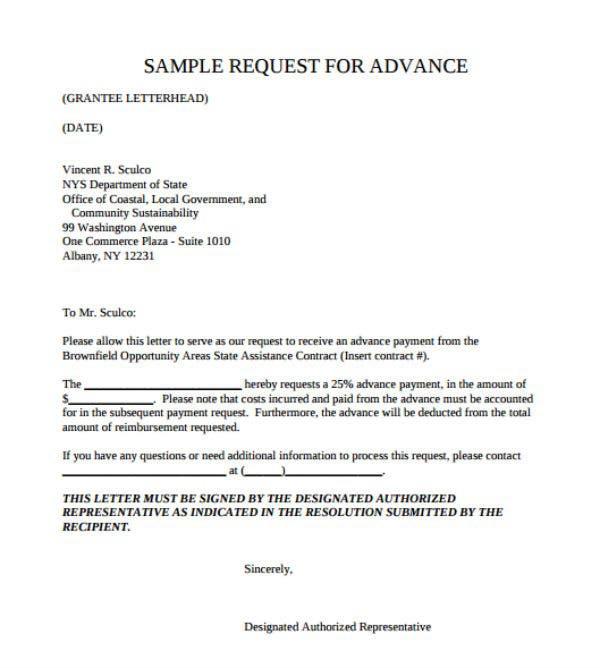 Payment Request Letter Templates