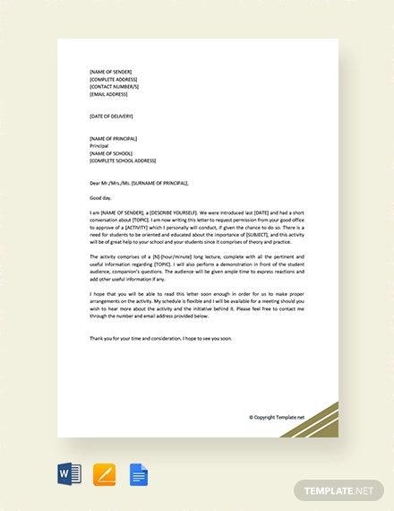 Permission Request Letter