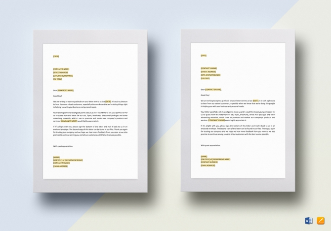 Permission To Use Unsolicited Testimonial Template In Word  Google