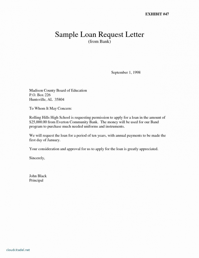 Personal Loan Proposal Template Beautiful Loan Proposal Letter To