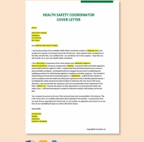 Health Safety Coordinator Cover Letter