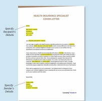 Health Insurance Specialist Cover Letter