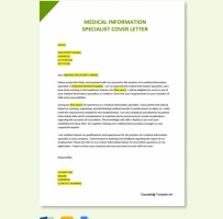 Medical Information Specialist Cover Letter