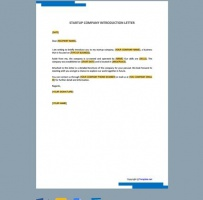 Startup Company Introduction Letter