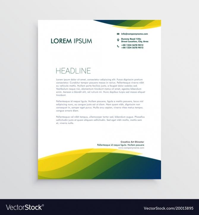 Professional Letterhead Design Royalty Free Vector Image