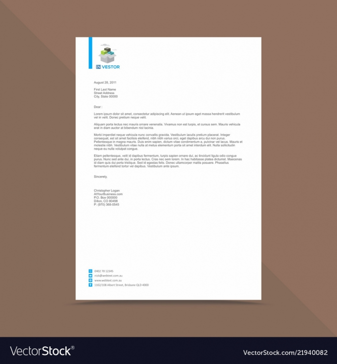 Professional Letterhead Design Template Royalty Free Vector
