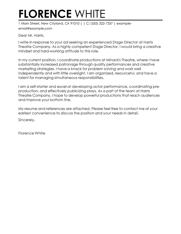 Professional Medical Cover Letter Examples