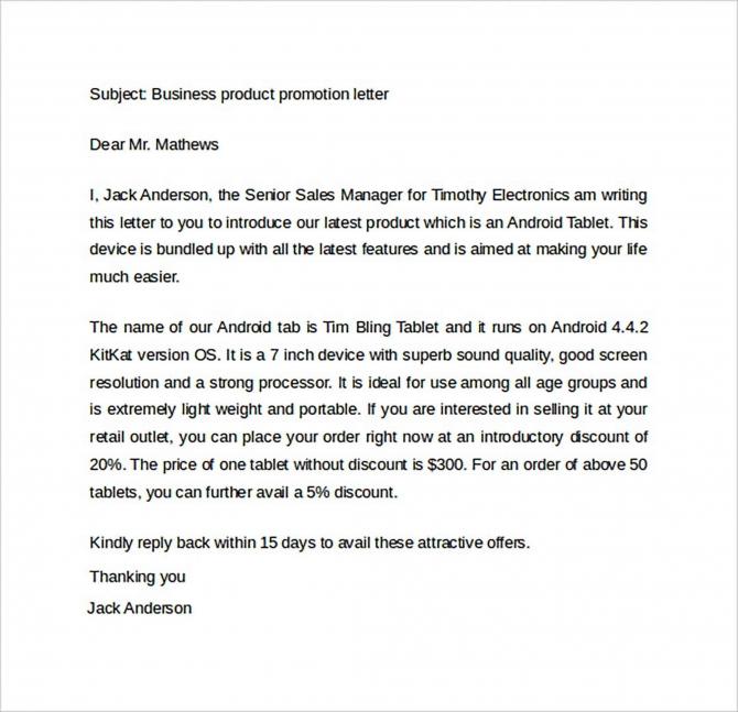 Promotion Letter Sample For Pdf  Doc