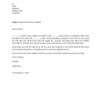 Formal Proposal Letter To School Principal