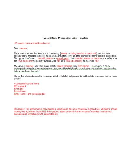 Real Estate Marketing Letter Examples   Templates Download